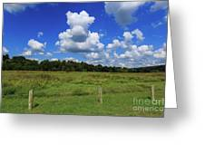 Clouds Surround The Landscape Greeting Card