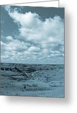 Cloudy Prairie Reverie Greeting Card
