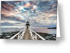 Cloudy Skies At Marshall Point Greeting Card