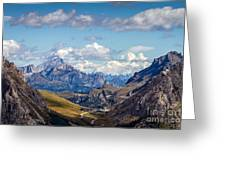 Cloudy Sky Over Grey Mountains Of Greeting Card