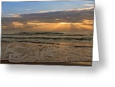 Cloudy Sunrise In The Mediterranean Greeting Card