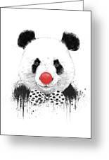 Clown Panda Greeting Card