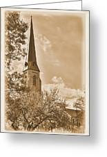 Clustered Spires Series - All Saints Episcopal Church No. 8cs - Frederick Maryland Greeting Card