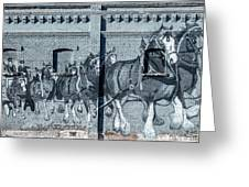 Clydesdale Mural Greeting Card