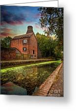 Coalport Bottle Kiln Sunset Greeting Card
