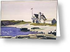 Coast Guard Station  Two Lights  Maine  Greeting Card