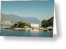 Coast Of Como Greeting Card