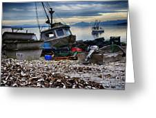 Coastal Fishing Vancouver Island Greeting Card