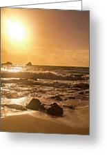 Coastal Sunrise Silhouette Greeting Card