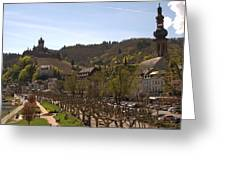 Cochem Castle And Town On Mosel In Germany Greeting Card