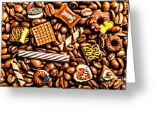 Coffee Candy Greeting Card