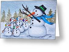 Cold Choir Greeting Card