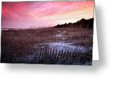Color Over The Dunes Greeting Card