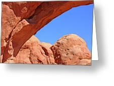 Colorado Arches, Close Up Blue Sky 3440 Greeting Card