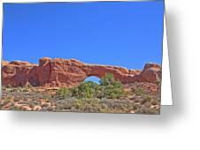 Colorado Arches Rock, Scrub Blue Sky 3397 Greeting Card