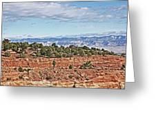 Colorado Blue Sky Red Rocks Clouds Trees 2 10212018 2857 Colorado  Greeting Card