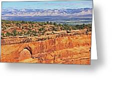 Colorado National Monument Trees Rock Formations 3087 Greeting Card
