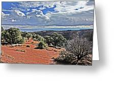 Colorado National Monument Trees Rock Formations Clouds 3001 Greeting Card