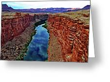 Colorado River From The Navajo Bridge 001 Greeting Card