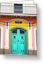 Colorful Door Greeting Card