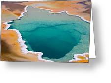 Colorful Geyser In Yellowstone National Greeting Card
