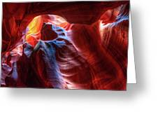 Colorful Layers Of Antelope Canyon Greeting Card by Gregory Ballos