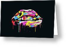 Colorful Lips Greeting Card