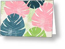 Colorful Palm Leaves 1- Art By Linda Woods Greeting Card