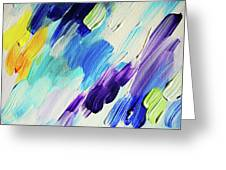 Colorful Rain Fragment 1. Abstract Painting Greeting Card