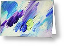 Colorful Rain Fragment 2. Abstract Painting Greeting Card