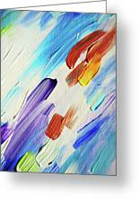 Colorful Rain Fragment 3. Abstract Painting Greeting Card
