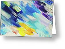 Colorful Rain Fragment 5. Abstract Painting Greeting Card