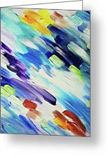Colorful Rain Fragment 6. Abstract Painting Greeting Card