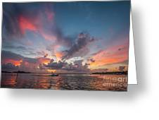 Colorful Sandsprit Sunrise Greeting Card by Tom Claud