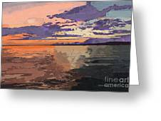 Colorful Sunset Over The Gulf Of Mexico Greeting Card