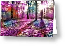 Colorful Trees Xii Greeting Card