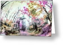 Colorful Trees Xiv Greeting Card