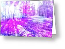 Colorful Trees Xv Greeting Card