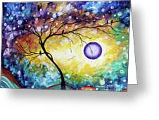 Colorful Whimsical Original Landscape Tree Painting Purple Reign By Megan Duncanson Greeting Card