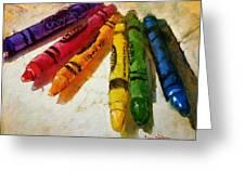 Colorwheel Crayons Greeting Card