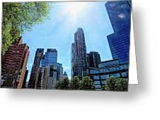 Columbus Circle At Mid Day Greeting Card