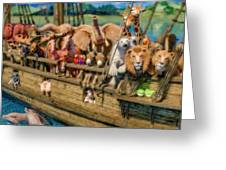 Come Aboard There's Plenty Of Room Ark Greeting Card