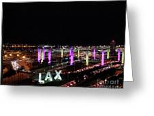 Coming And Going In The Heart Of L A At Night-time Greeting Card