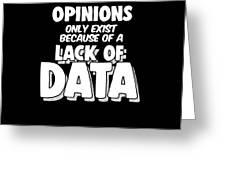 Computer Data Science Big Data Geek Pun Apparel Greeting Card