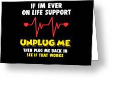 Computer Unplug Geek Pun Apparel Greeting Card