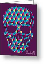 Conceptual Human Skull. Vector Greeting Card