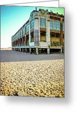Convention Hall Beach View Greeting Card