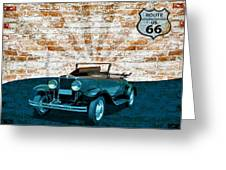 Convertible Vintage Car Greeting Card