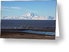 Cook Inlet And The Alaska Range From Ninilchik Greeting Card