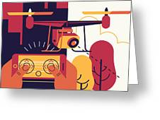 Cool Vector Trendy Flat Design Greeting Card